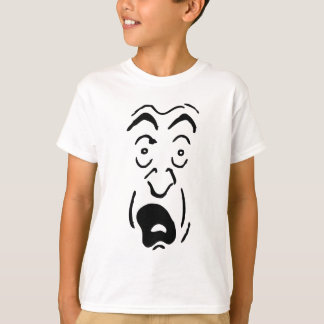 Scared face t-shirt