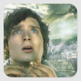 Scared FRODO™ Holding Ring Square Sticker