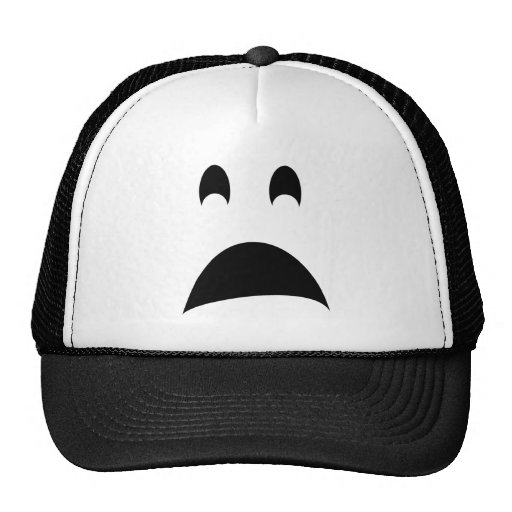SCARED GHOST MESH HAT