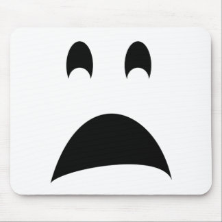 SCARED GHOST MOUSE PAD