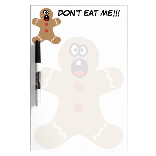 Scared Gingerbread Men the Best Christmas Guests Dry-Erase Board