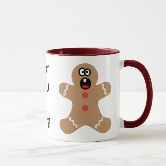 Scared Gingerbread Men the Best Christmas Guests Mug