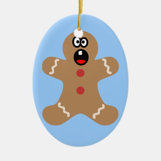 Scared Gingerbread Men the Best Christmas Guests Ornaments