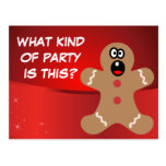 Scared Gingerbread Men the Best Christmas Guests Postcards