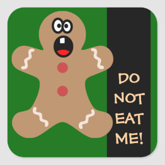 Scared Gingerbread Men the Best Christmas Guests Square Sticker