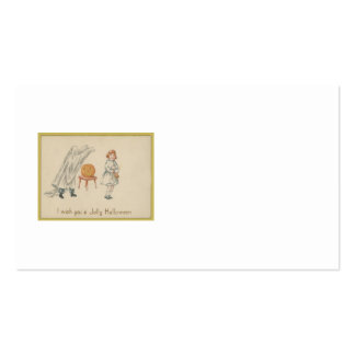 Scared Girl Ghost Costume Jack O Lantern Double-Sided Standard Business Cards (Pack Of 100)