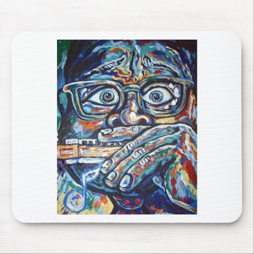 SCARED HARMONICA MOUSE PAD