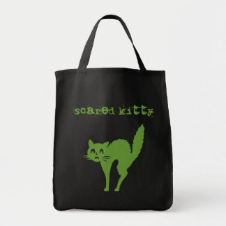 scared kitty canvas bags