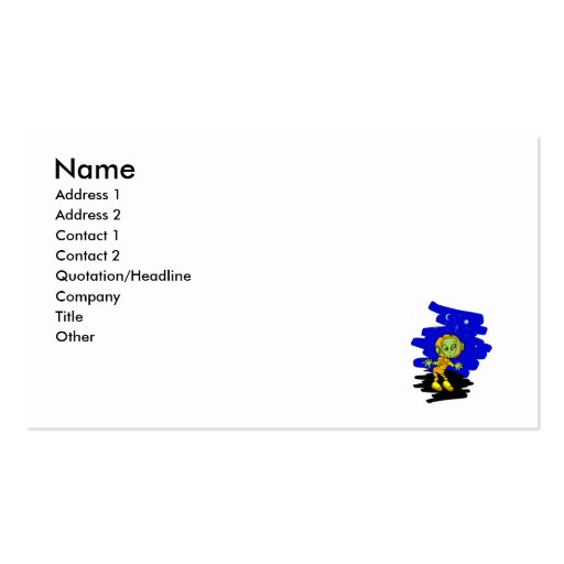 Scared little alien in space suit Double-Sided standard business cards (Pack of 100)