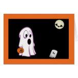 Scared Little Ghost Halloween Card