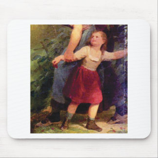 scared little girl mouse pad