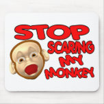 Scared Monkey Mouse Pads