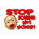 Scared Monkey Post Cards