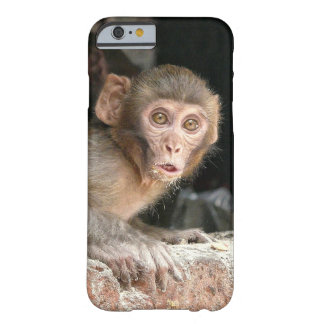 Scared monkey with big eyes mobile case