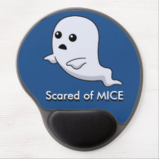 scared of mice ghost computer mouse pad gel mouse pad