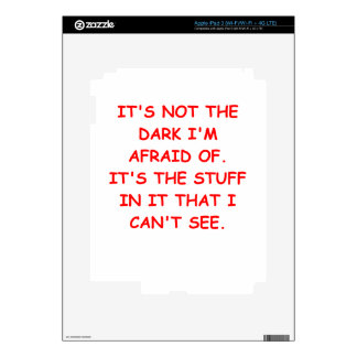 scared of the dark decals for iPad 3