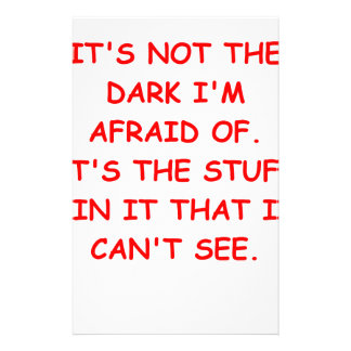 scared of the dark stationery