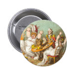 Scared on Halloween Pinback Buttons