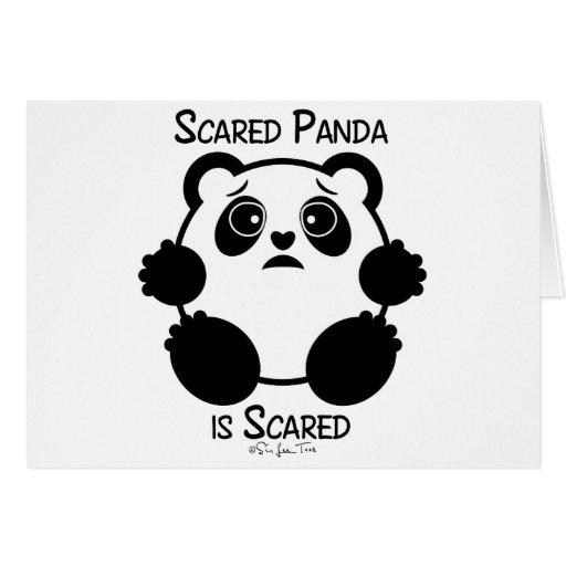 Scared Panda Greeting Card