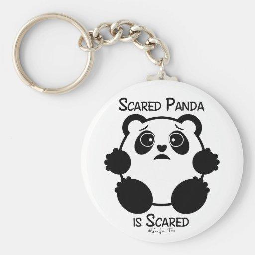 Scared Panda Keychains