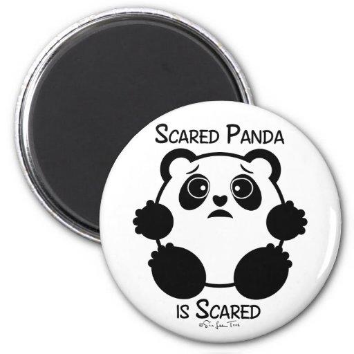 Scared Panda Magnets