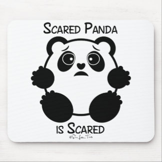 Scared Panda Mouse Pad