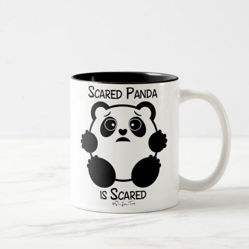 Scared Panda Two-Tone Coffee Mug