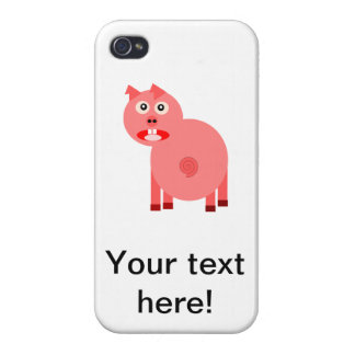 Scared pig cartoon cover for iPhone 4