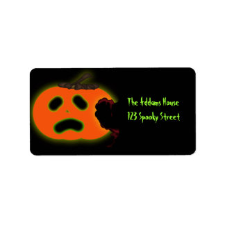 Scared Pumpkin Address Labels