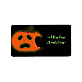Scared Pumpkin Address Labels