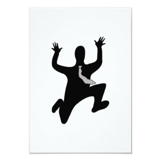 Scared Running Man 3.5x5 Paper Invitation Card