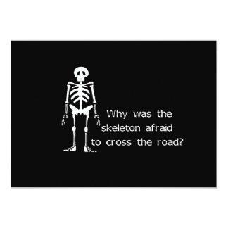 Scared Skeleton Card