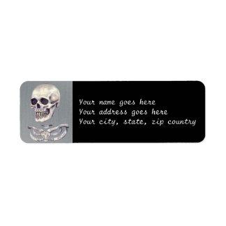 Scared Skeleton Return Address Label