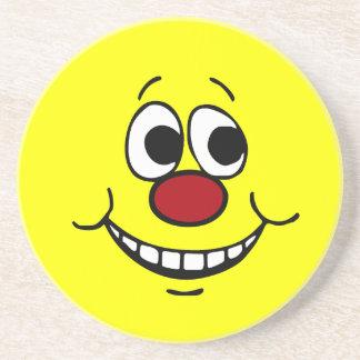 Scared Smiley Face Grumpey Coaster