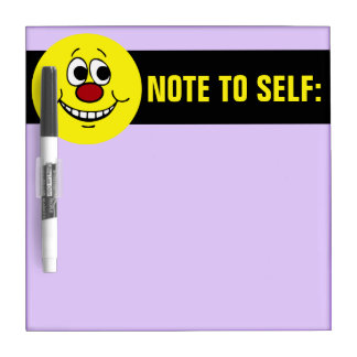 Scared Smiley Face Grumpey Dry-Erase Board