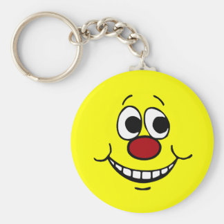 Scared Smiley Face Grumpey Keychain