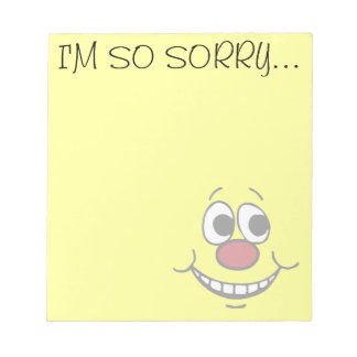 Scared Smiley Face Grumpey Notepad