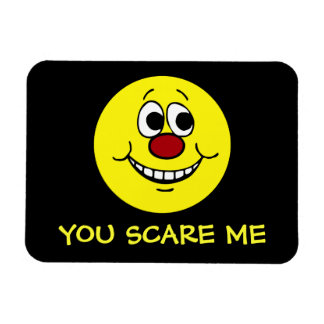 Scared Smiley Face Grumpey Rectangle Magnets