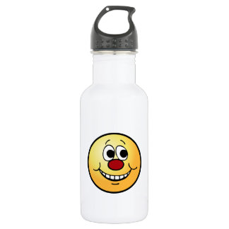 Scared Smiley Face Grumpey Water Bottle