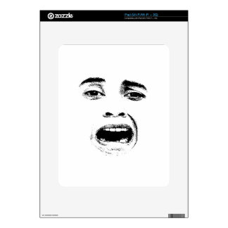Scared Woman Expression Decals For The iPad