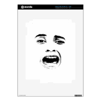 Scared Woman Expression Decals For The iPad 2