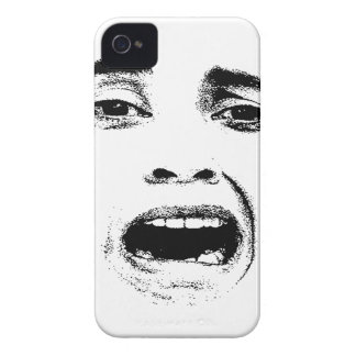 Scared Woman Expression iPhone 4 Case