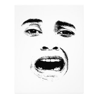 Scared Woman Expression Letterhead