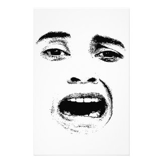 Scared Woman Expression Stationery