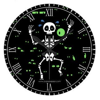 Scaredy-Bones (Spooky Eyes) Large Clock