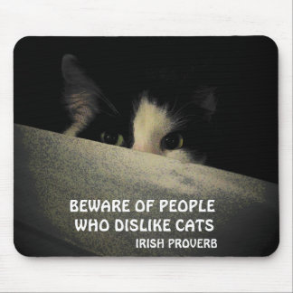 Scaredy cat and Irish proverb Mouse Pad