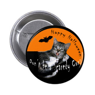 Scaredy Cat Halloween Button