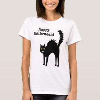 Scaredy Cat Halloween Cartoon T-Shirt