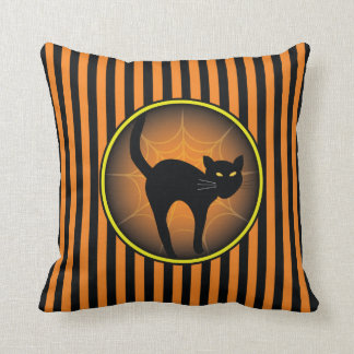 Scaredy Cat Halloween Pillow