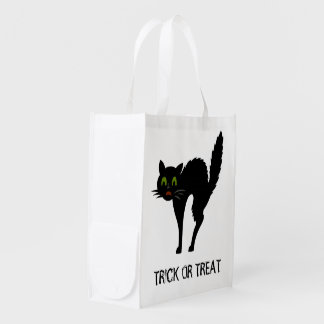 Scaredy Cat Halloween Trick Or Treat Bag Grocery Bag